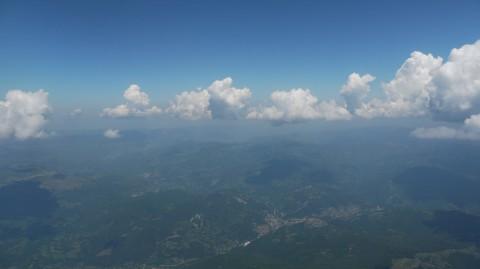 over the Balkan Mountains